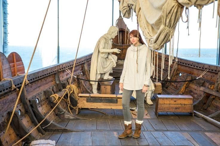 Aboard the historic Íslendingur, which was sailed across the Atlantic Ocean in 2000.